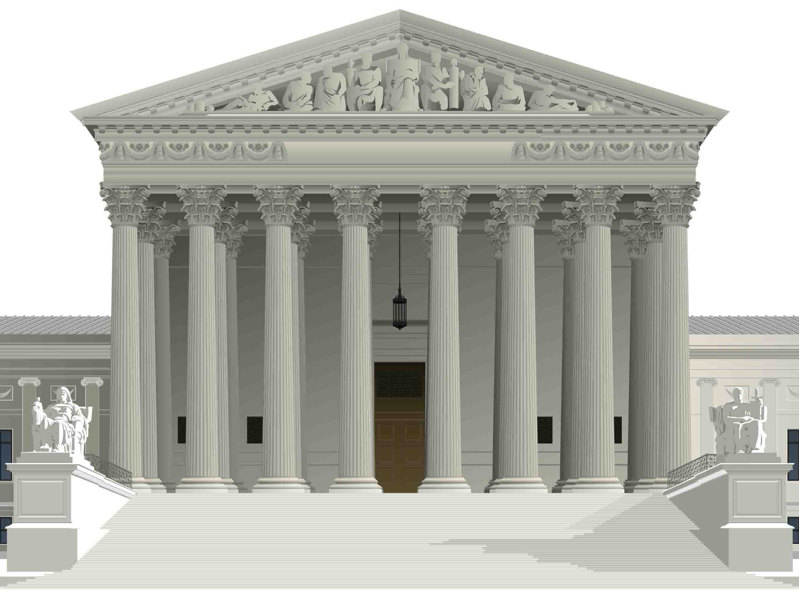illustration of the supreme court building