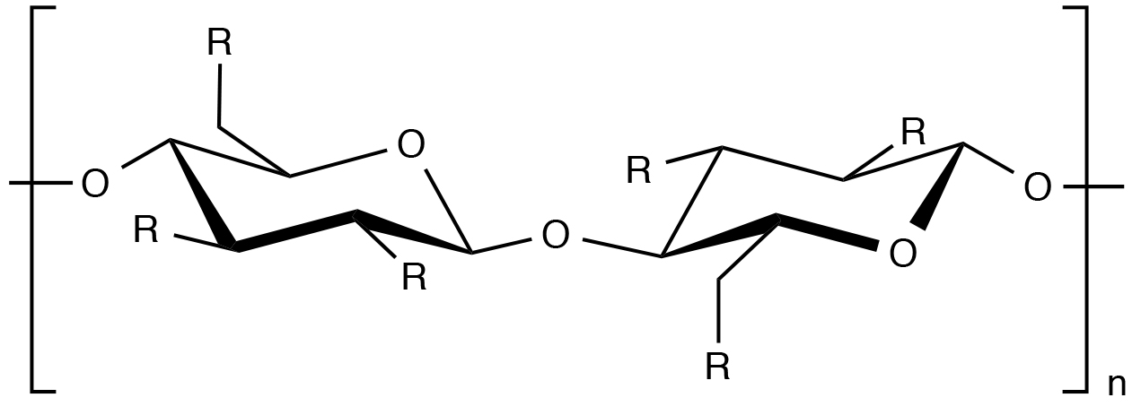molecular structure of hydroxyethylcellulose