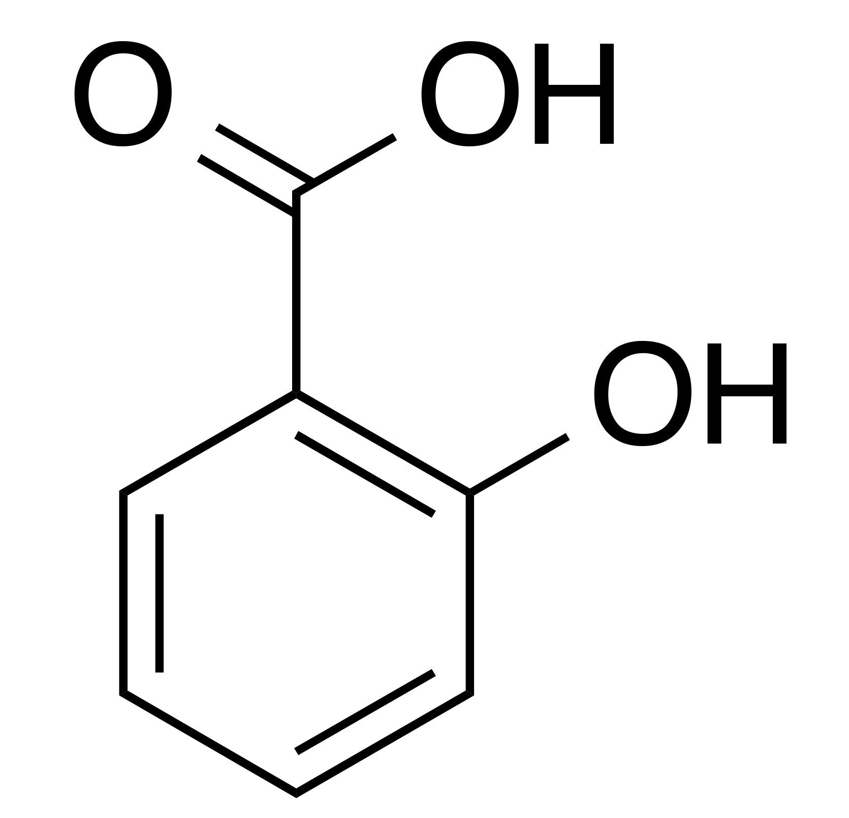 molecular structure of salicylic acid